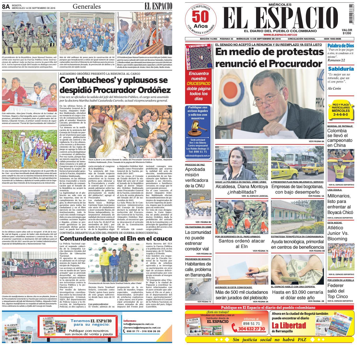 DIARIO EL ESPACIO by DIARIO EL ESPACIO - issuu d103c82d18285