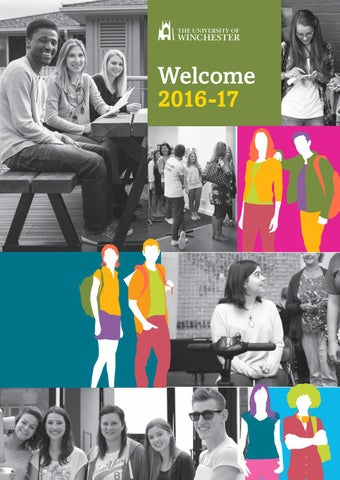 2016 welcome pack by the university of winchester issuu page 1 fandeluxe Choice Image