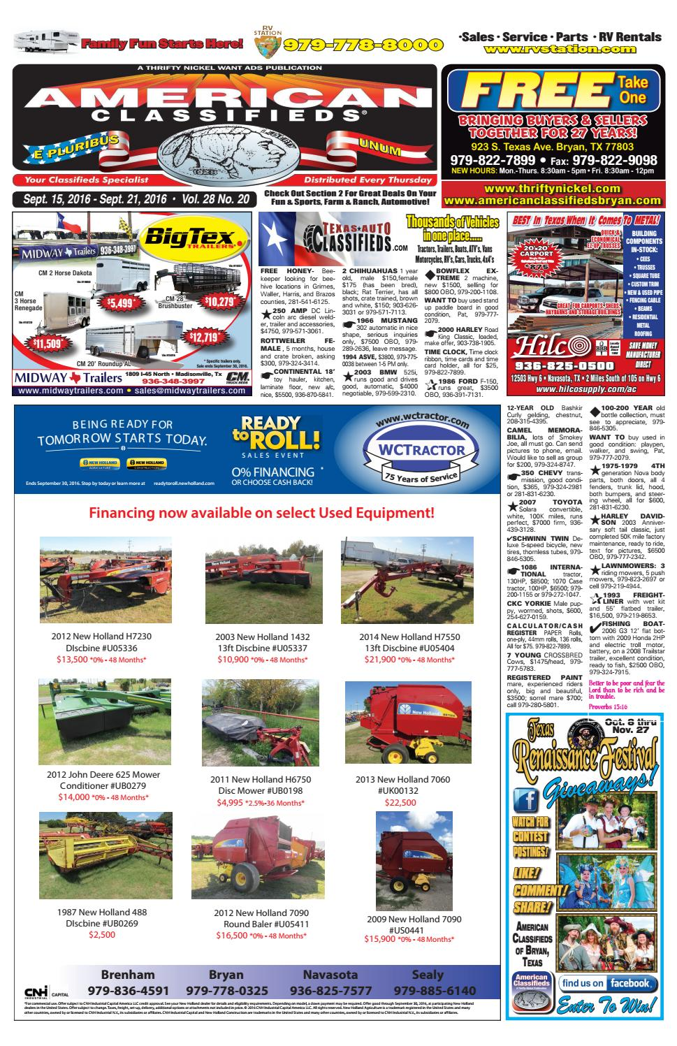 American Classifieds Sept  15th Edition Bryan/College