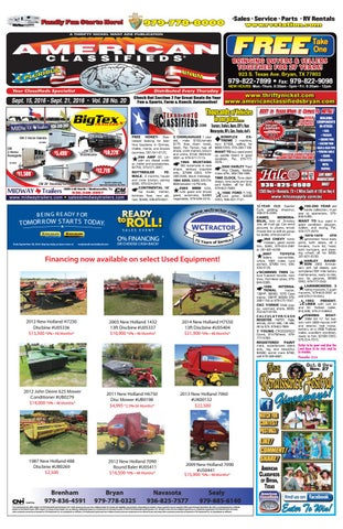 American Classifieds Sept  15th Edition Bryan/College Station by