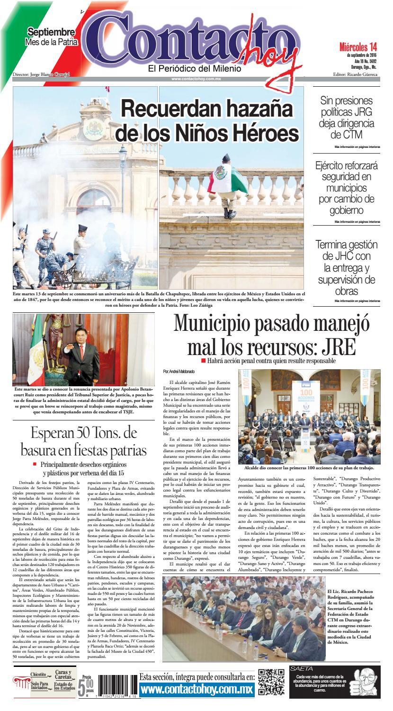 Peri Dico Contacto Hoy Del 14 De Septiembre Del 2016 By Contacto  # Cota Muebles Teziutlan Puebla