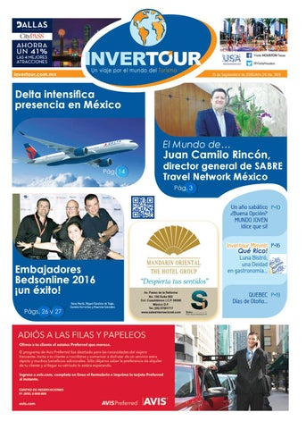 Invertour Septiembre 2016 By Invertourdigital Issuu