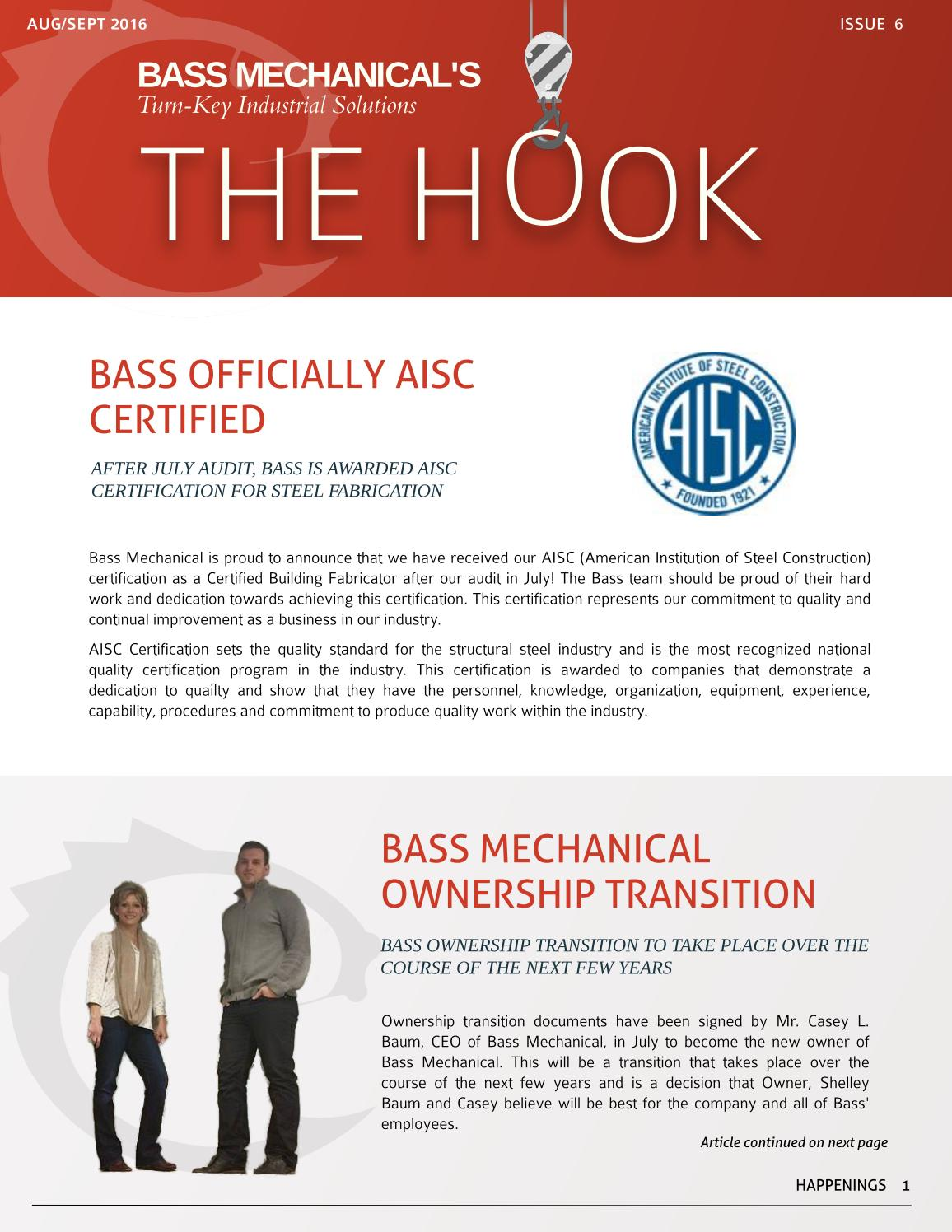 The Hook Augsept Issue By Bass Mechanical Inc Issuu