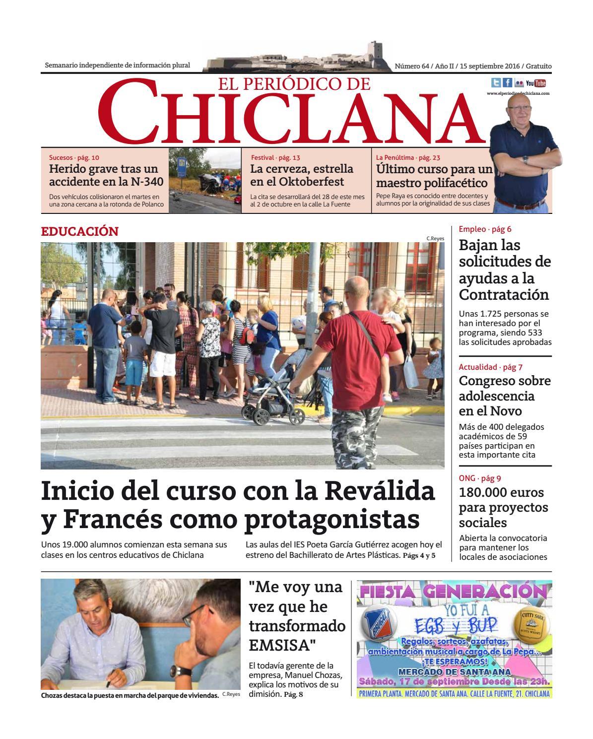 El Periódico de Chiclana nº64 by El Periódico de Chiclana - issuu