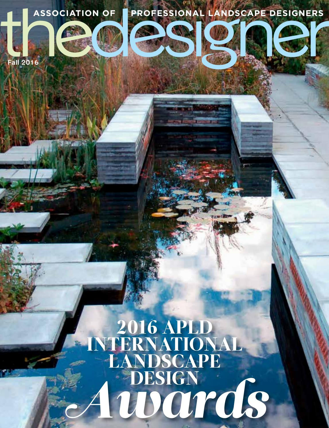 The Designer – Fall 2016 by Association of Professional Landscape ...