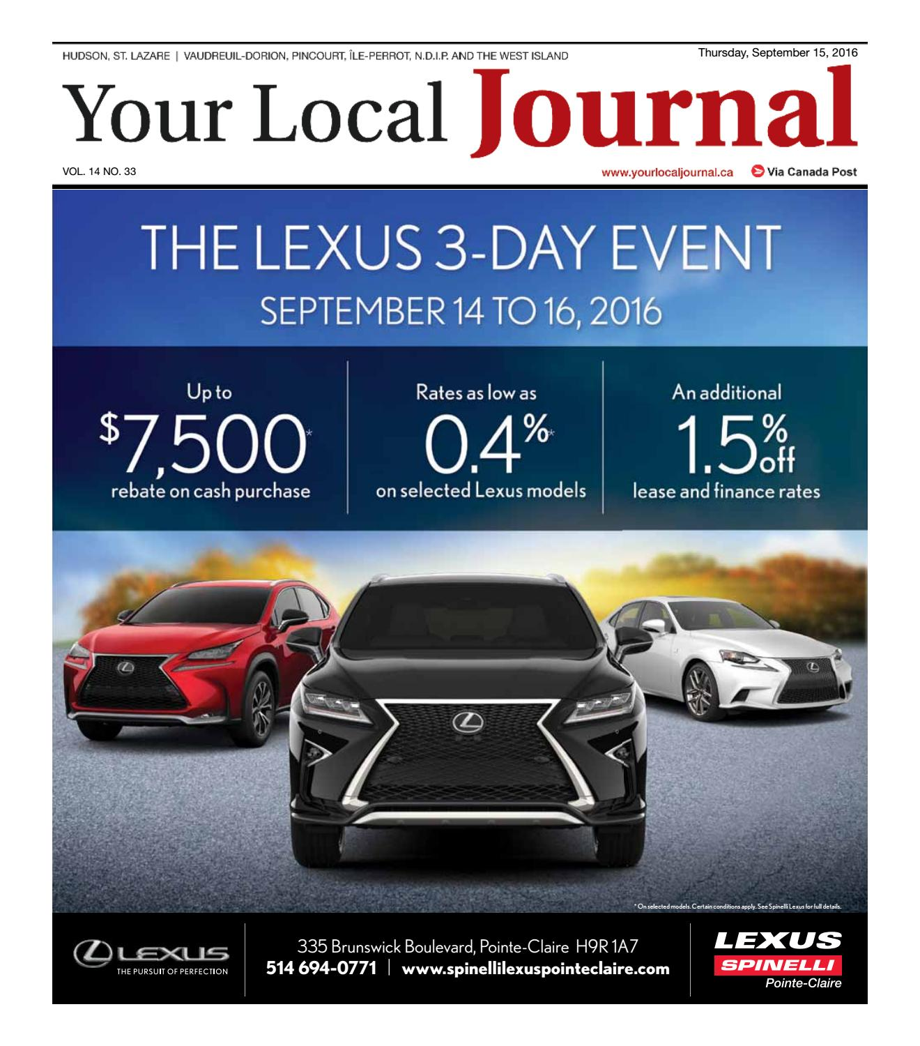 2014 Lexus Es 300h: September 15, 2016 By Your Local