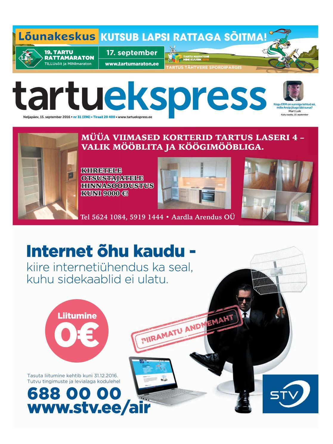 a50bbf9e7ac Tartu Ekspress, 15.09.2016 by Tartu Ekspress - issuu