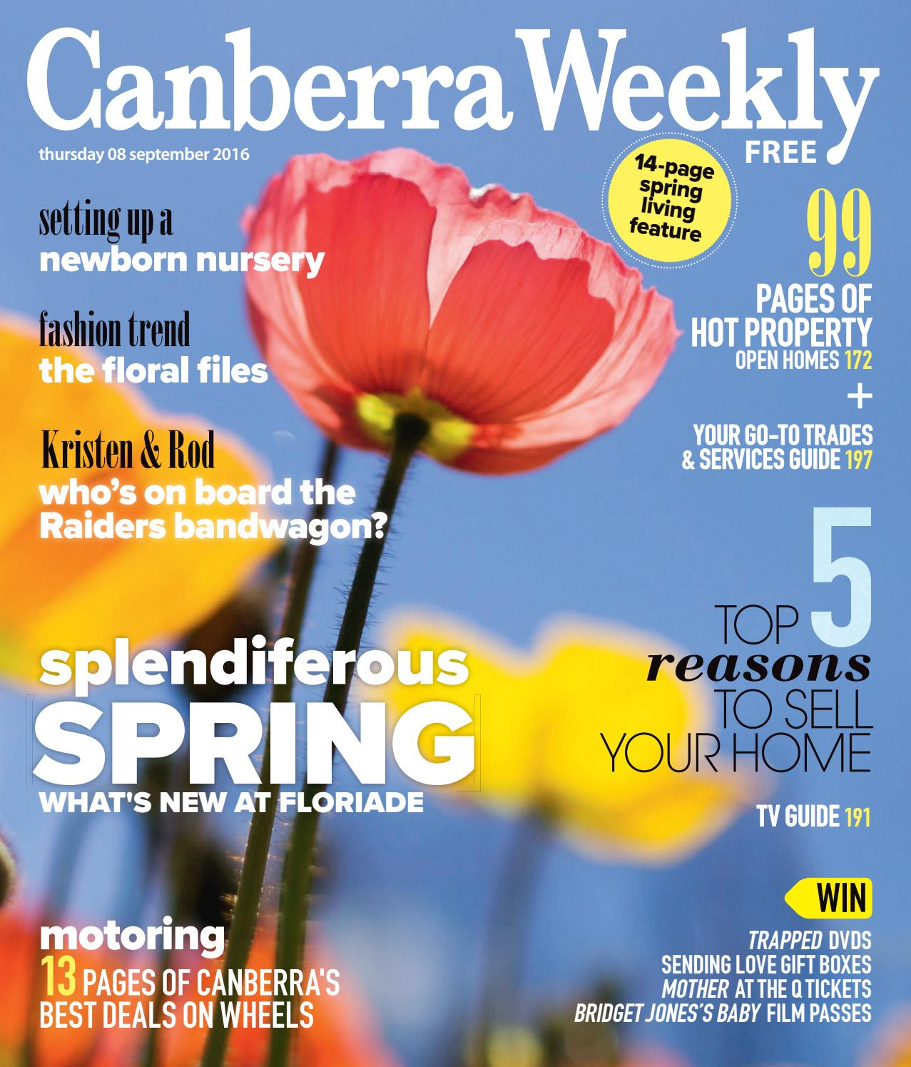 08 September 2016 by Canberra Weekly Magazine - issuu