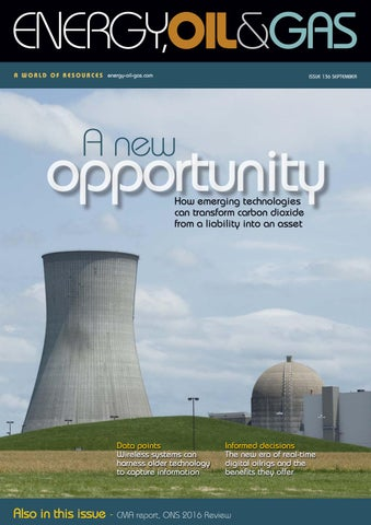 Energy, Oil & Gas Issue 136 September 2016 by Schofield Publishing