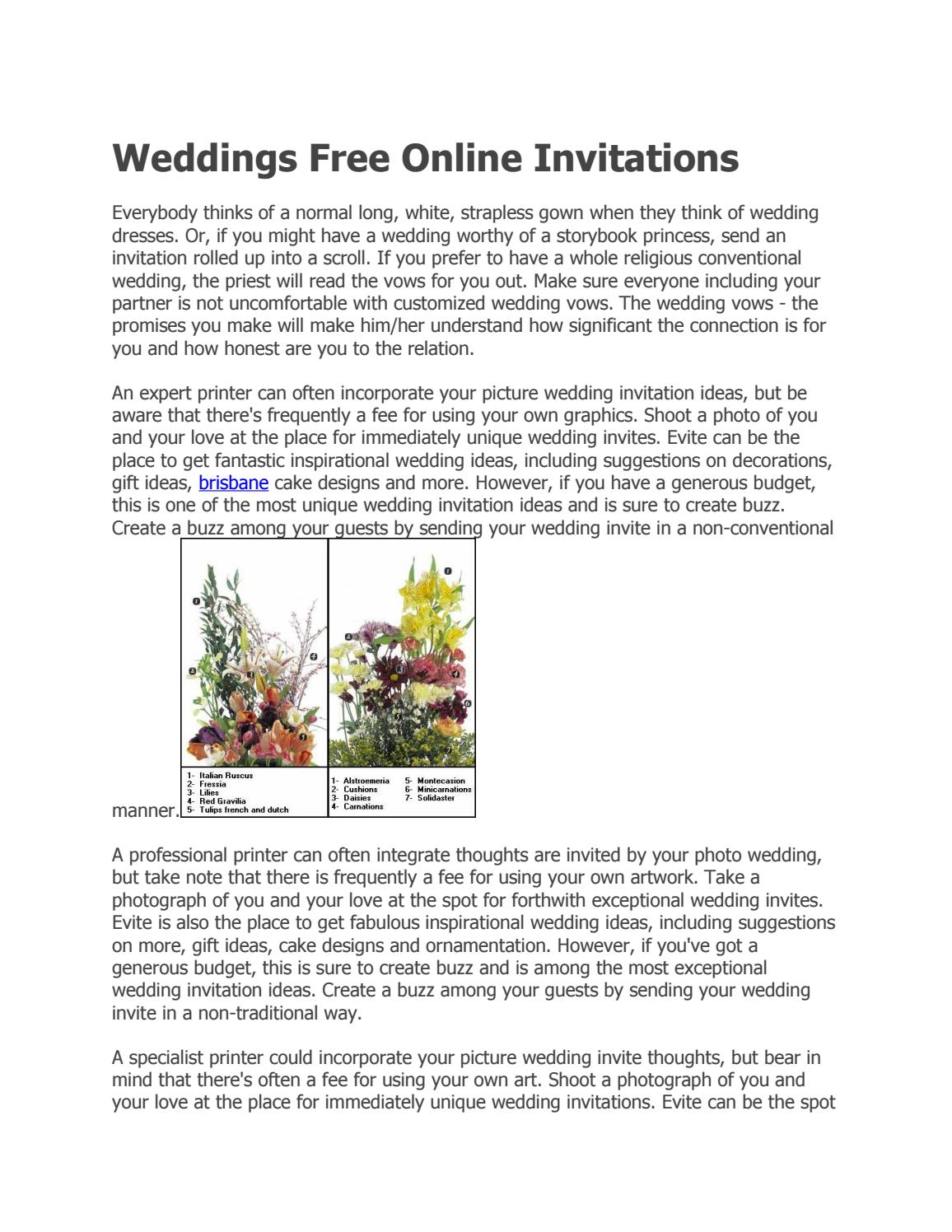 Weddings free online invitations by petsandanimals - issuu