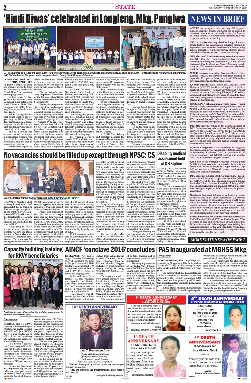 September 15, 2016 by Nagaland Post - issuu