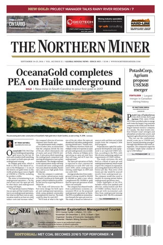 165 Niocorp Appoints Mr Mark A Smith  >> The Northern Miner September 19 2016 Issue By The Northern