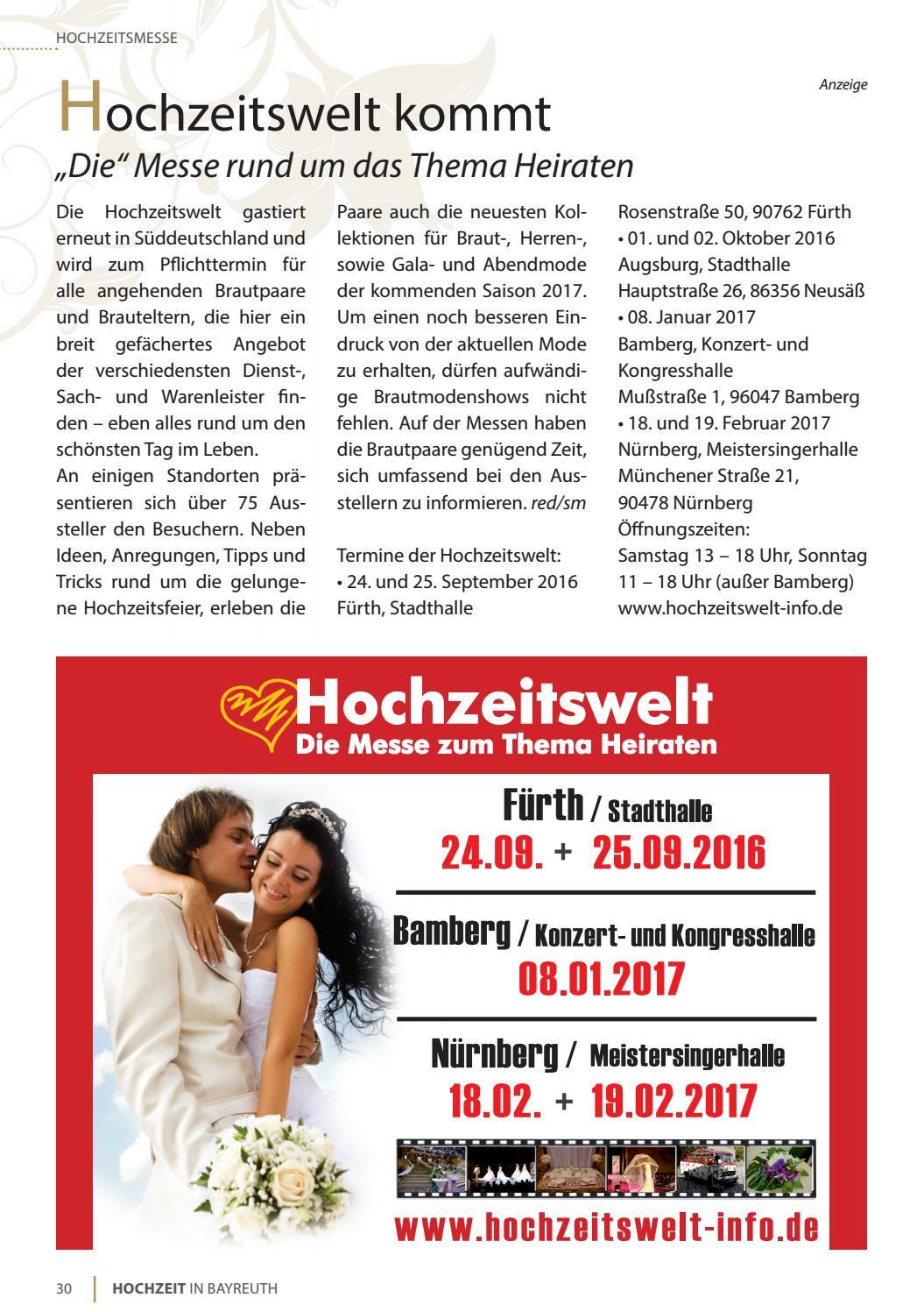 Hochzeit In Bayreuth By Bayreuther Sonntagszeitung Issuu