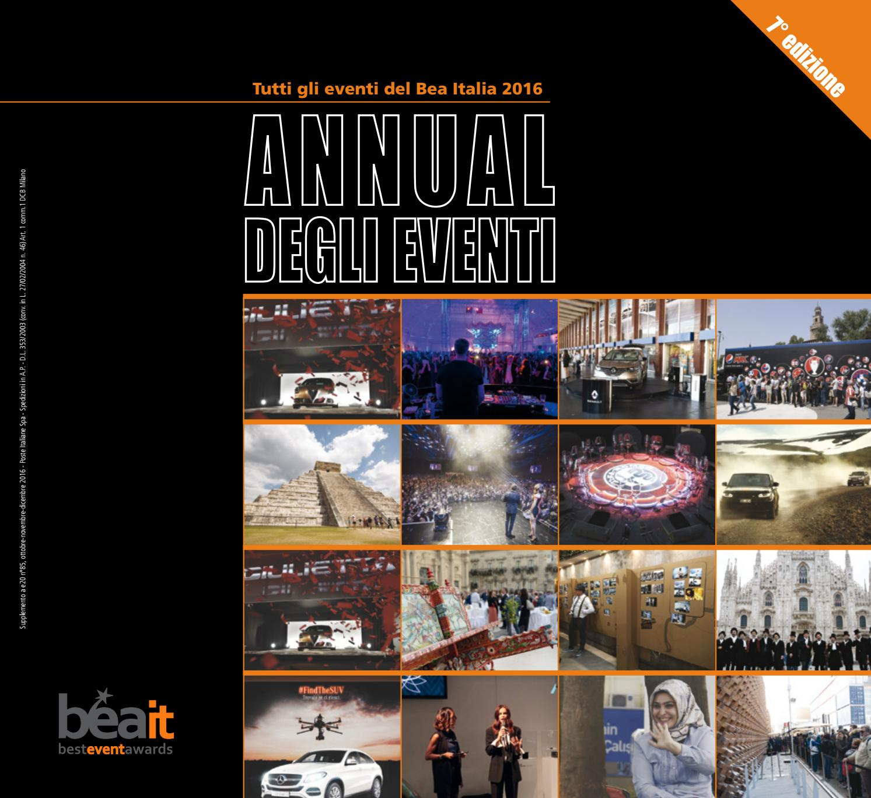 Annual degli Eventi 2016 - Bea Italia by ADC Group - issuu 2778aec35d0