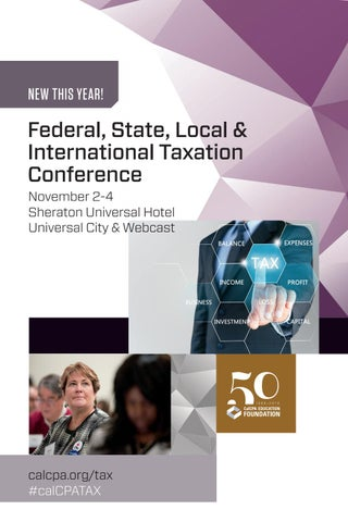 Federal, State, Local & International Taxation Conference by