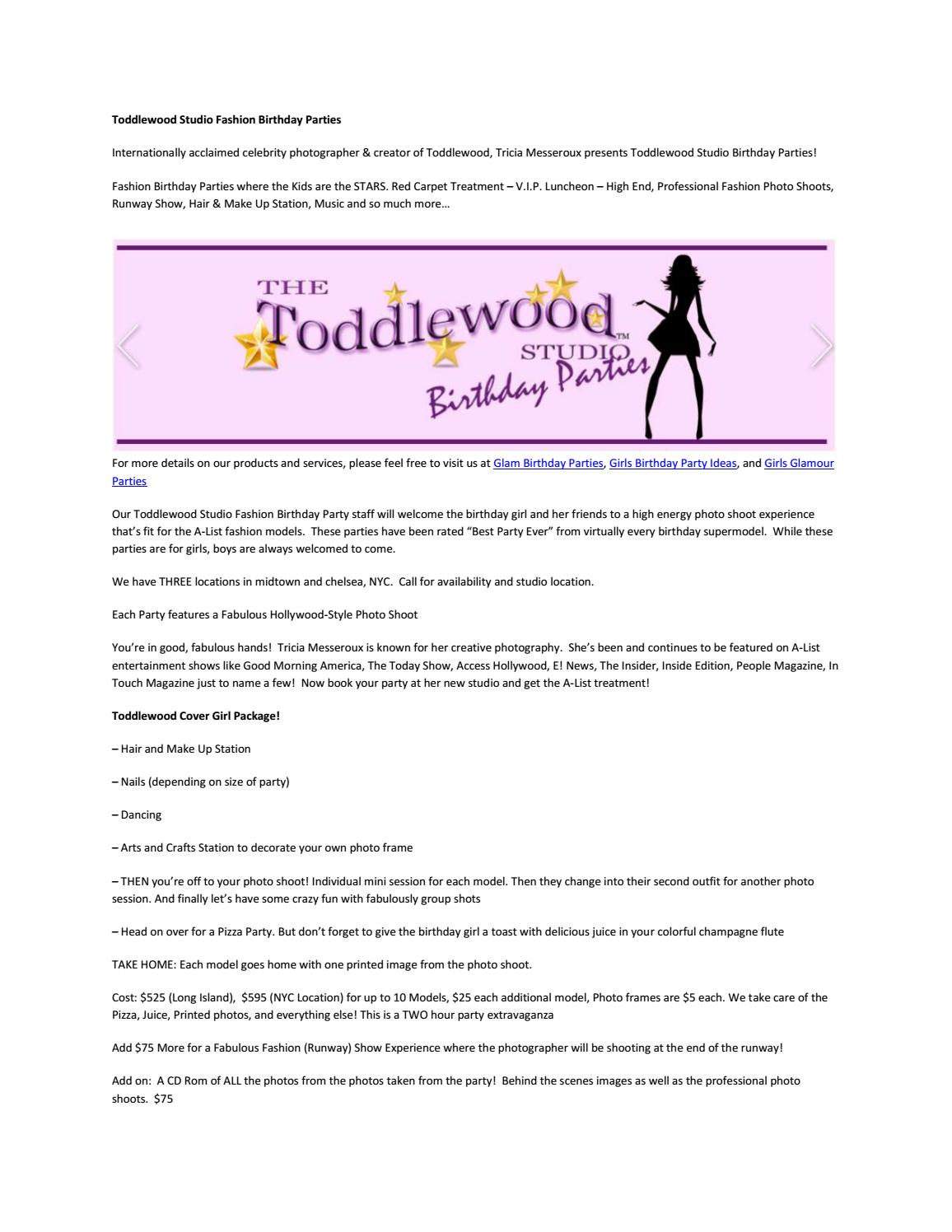 Toddlewood Studio Fashion Birthday Parties By Toddlewoodparties.02   Issuu