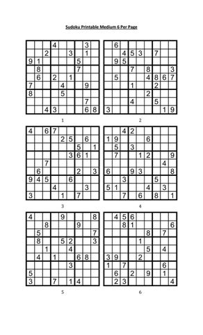 picture about Printable Sudoku Puzzles 6 Per Page titled Sudoku printable medium 6 for every web site by way of Aaron Woodyear - issuu