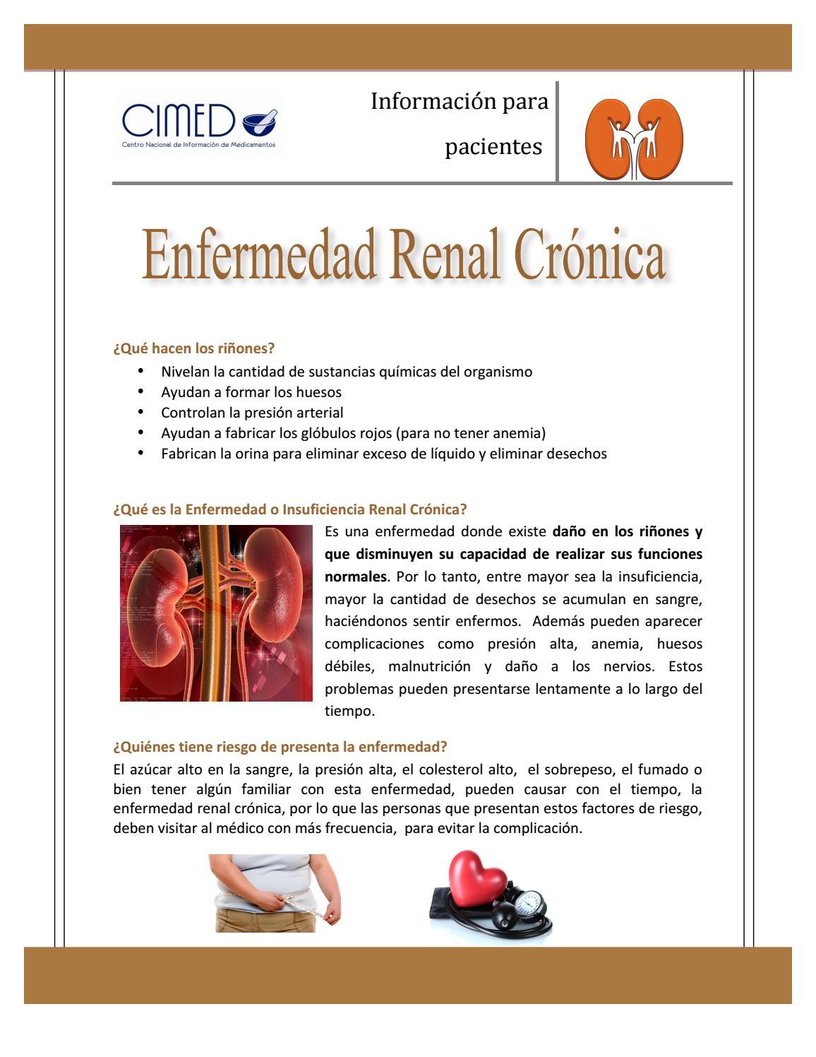 Problemas renales causan presión arterial alta