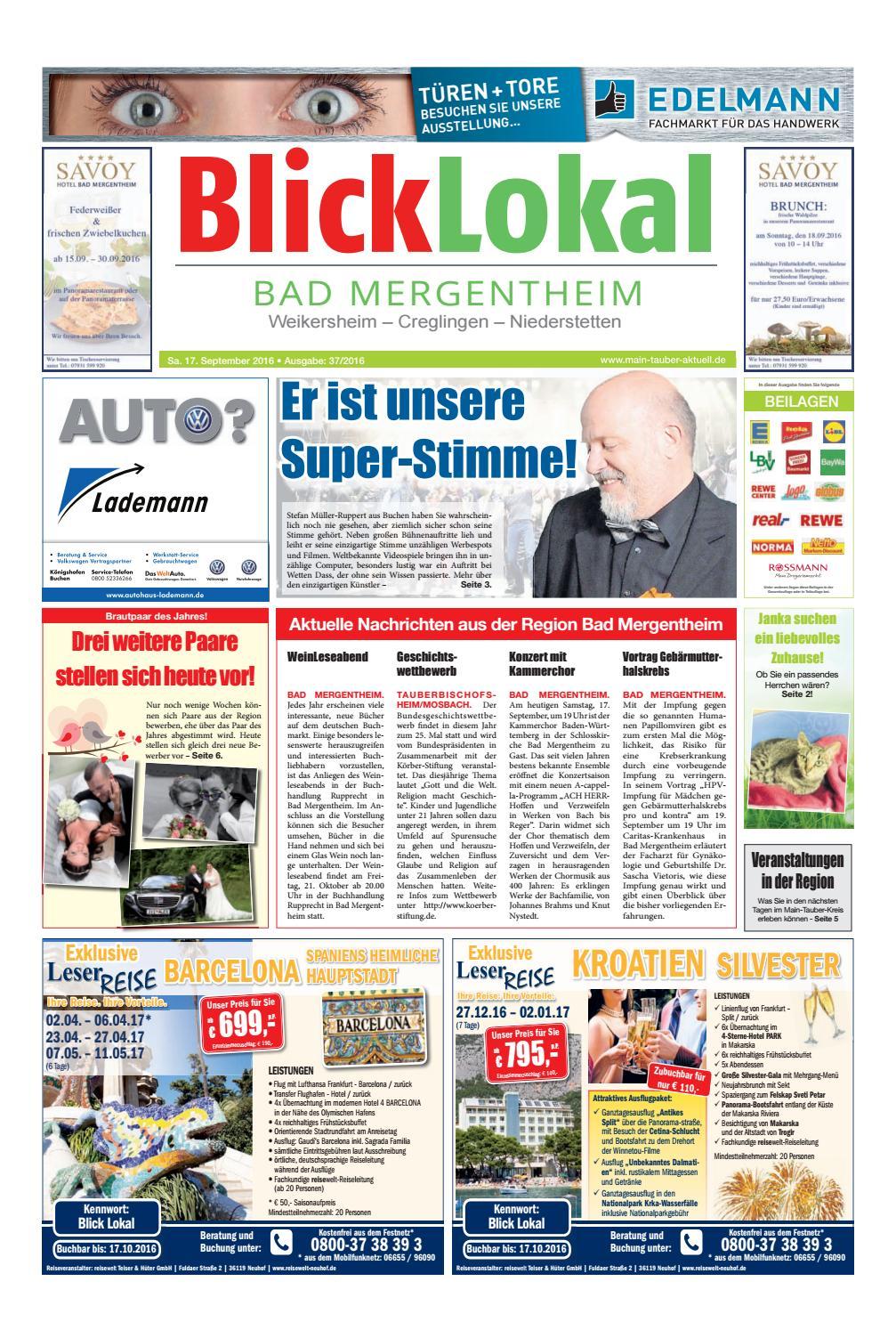 BlickLokal Bad mergentheim KW 37 by BlickLokal Wochenzeitung - issuu