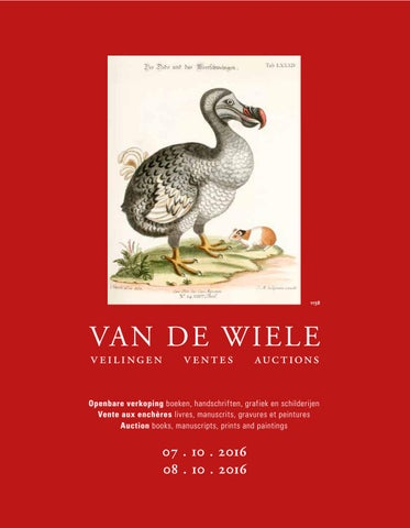 Catalogue 4 5 October 2016 By Uitgeverij Van De Wiele