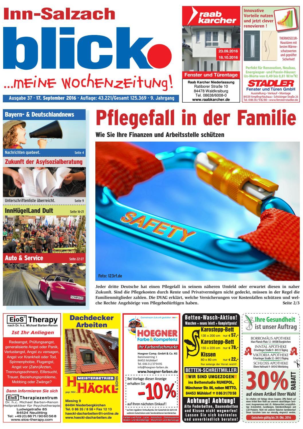 Inn-Salzach blick - Ausgabe 37 | 2016 by Blickpunkt Verlag - issuu