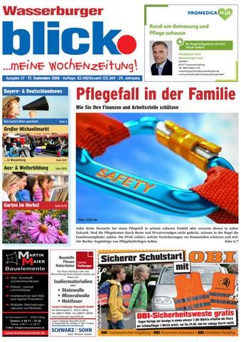Wasserburger Blick Ausgabe 37 2016 By Blickpunkt Verlag Issuu