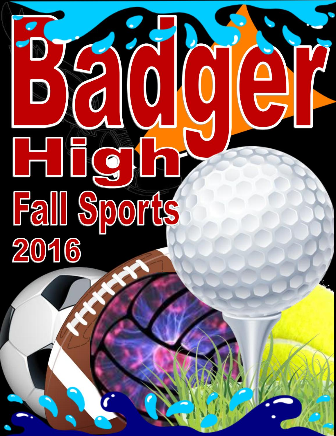 Badger High School Fall 2016 17 Sports Guide By Lake