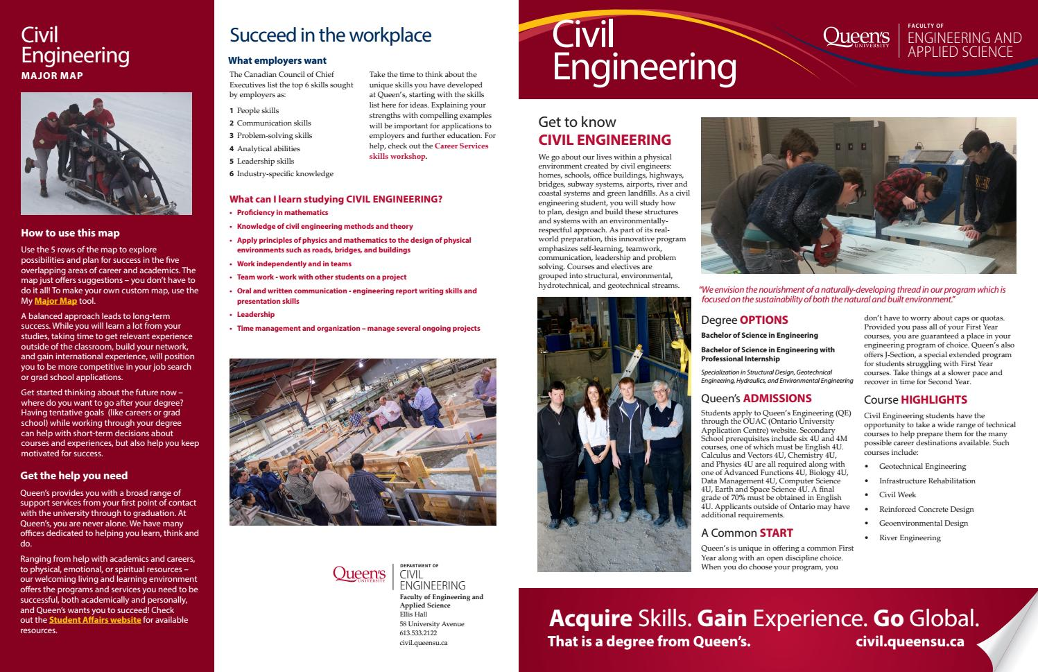 Civil Engineering Printer Friendly By Queen S Faculty Of Engineering And Applied Science Issuu