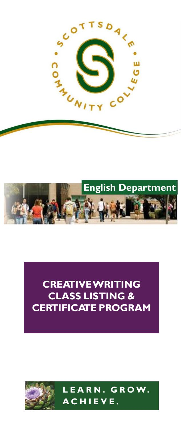 Scc Creative Writing Brochure By Scottsdale Community College Issuu