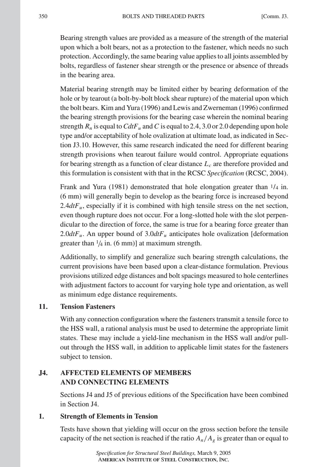 COMMENTARY ANSI/AISC 360-05 by Pedro Antonio Jiménez Sánchez