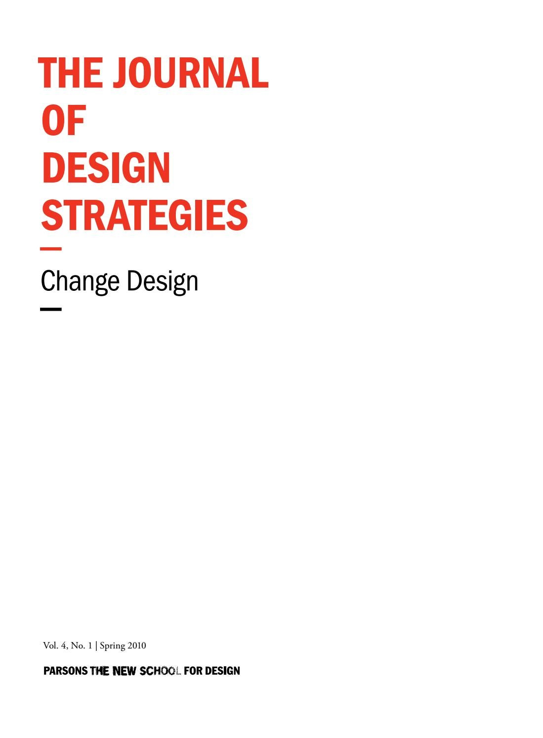 The Journal Of Design Strategies Volume 4 By Johnny 5 No Disassemble Advanced Irules An Abstract View Issuu