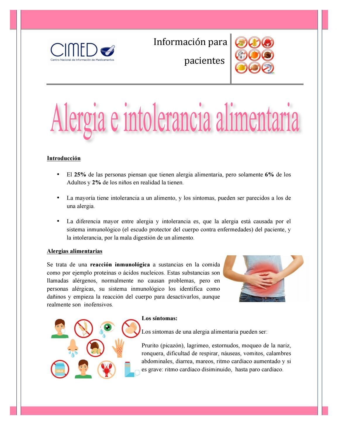medicamento para alergias alimentarias