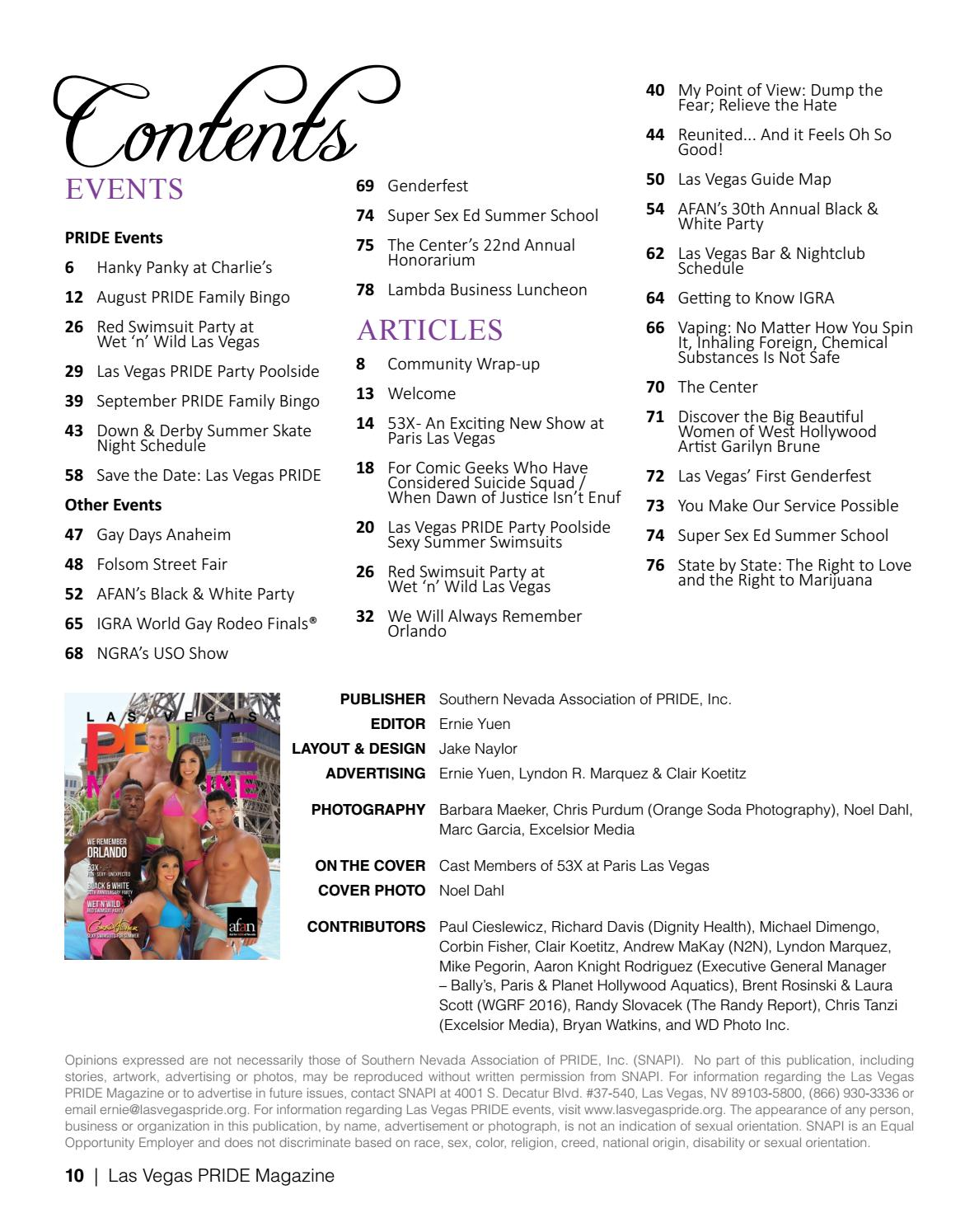 Remember Not Matter How They Spin It >> Las Vegas Pride Magazine Issue 10 By Las Vegas Pride Issuu