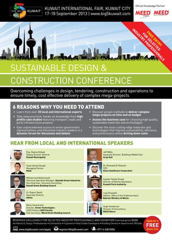 The Big 5 Kuwait - Sustainable Construction and Design Conference