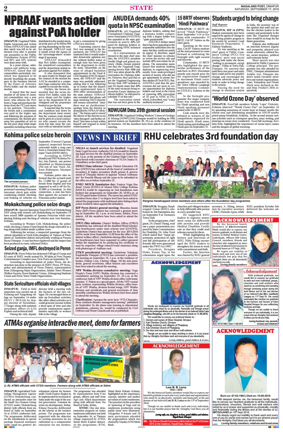 September 17, 2016 by Nagaland Post - issuu