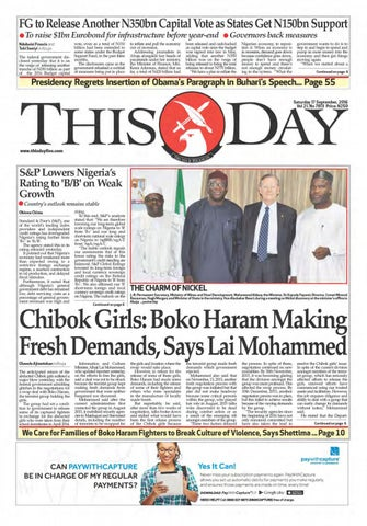 6670ee2c35419 Saturday 17th September 2016 by THISDAY Newspapers Ltd - issuu