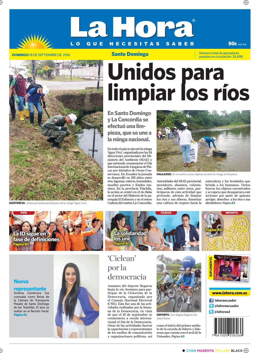 Santo Domingo 18 De Septiembre De 2016 By Diario La Hora Ecuador  # Hazan Muebles Gavilan