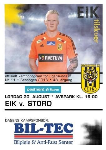 e39cc908 Program EIK - Stord, 20. august 2016 by EIK fotball - issuu