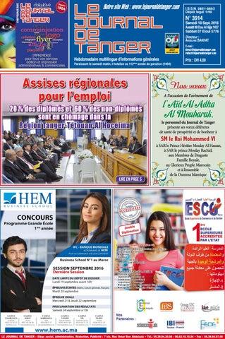 18c265b21 Le journal de Tanger 10 septembre 2016 by Le Journal de Tanger - issuu