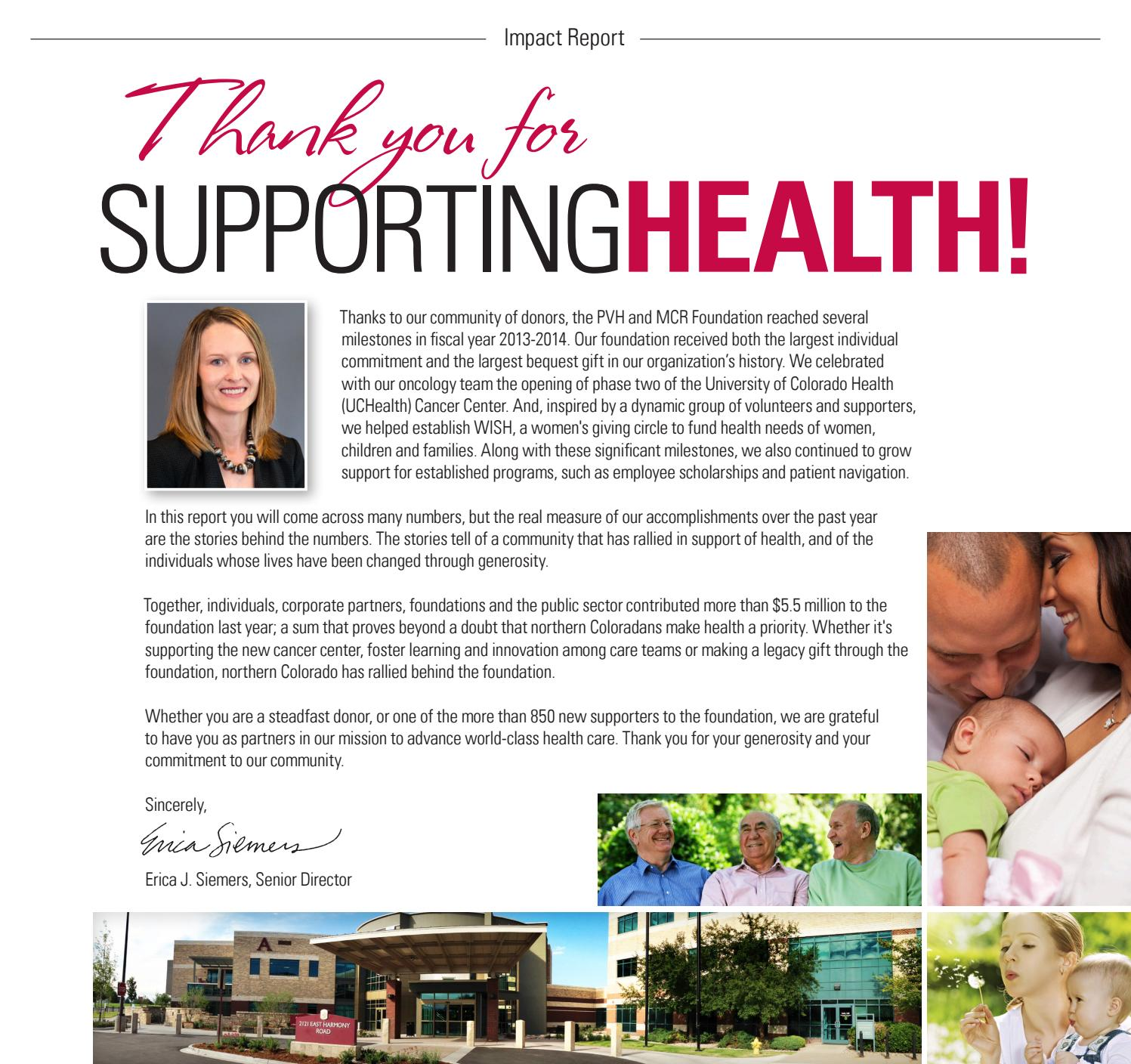 UCHealth Foundation Impact Report by Brian Kelly - issuu