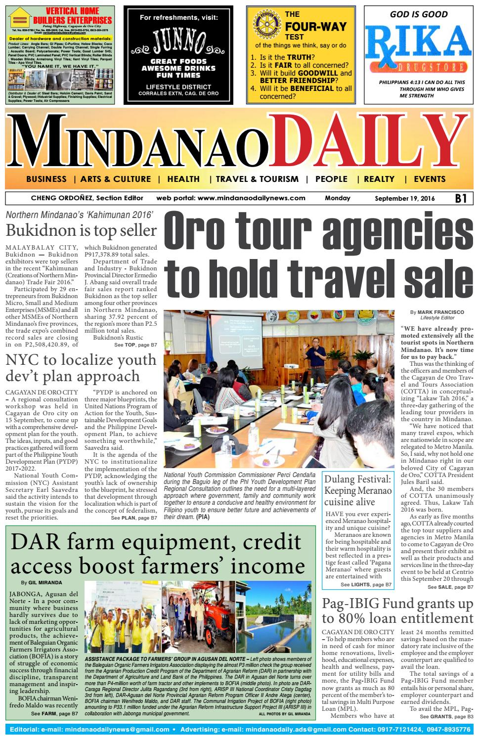 Mindanao Daily Set B (September 19, 2016) by Mindanao Daily