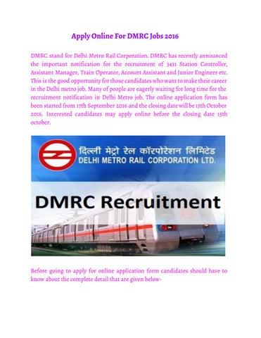 Dmrc Recruitment 2016 By Payal Issuu