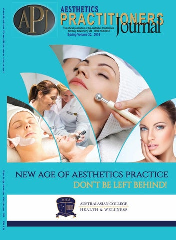 Apj Vol 30 2016 By Apan Aesthetics Practitioners Advisory Network