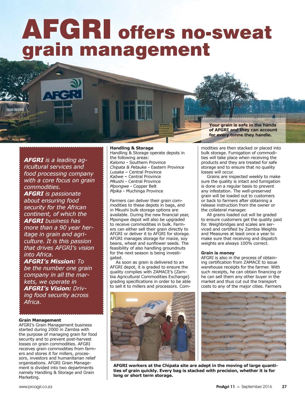 ProAgri Zambia 11 - September 2016 by ProAgri - issuu