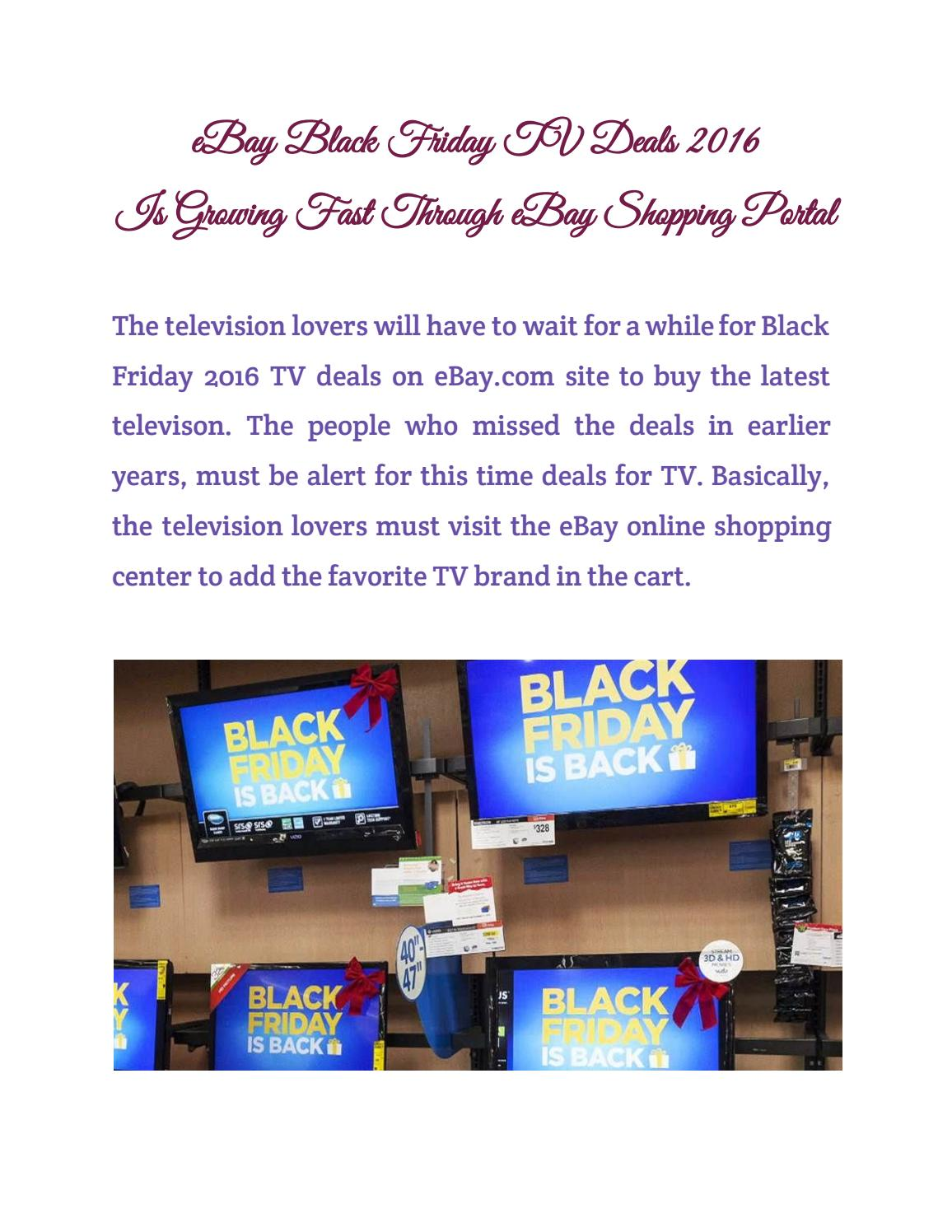 black friday tv ebay black friday tv deals 2016 is growing fast through 11920