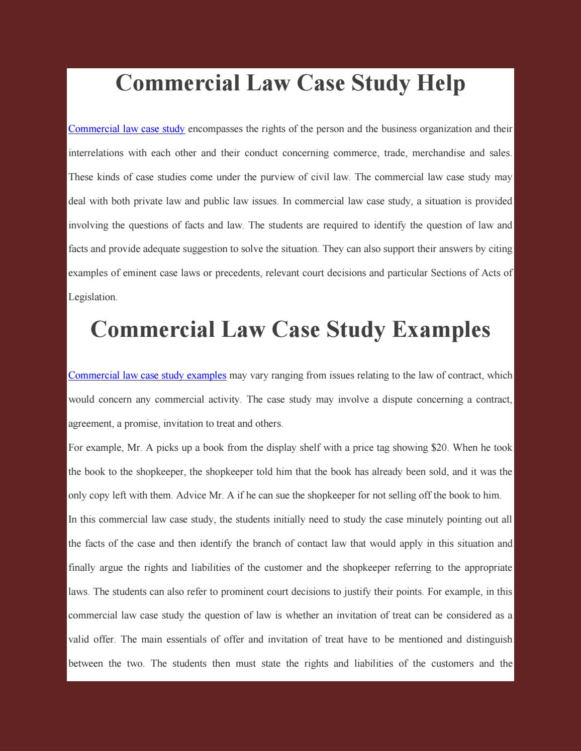 law case essay