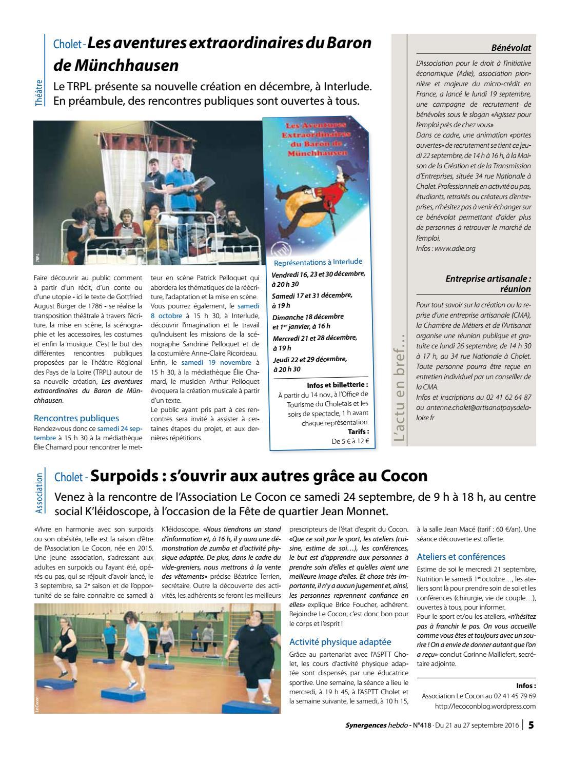 synergences hebdo n°418 by agglomération du choletais - issuu