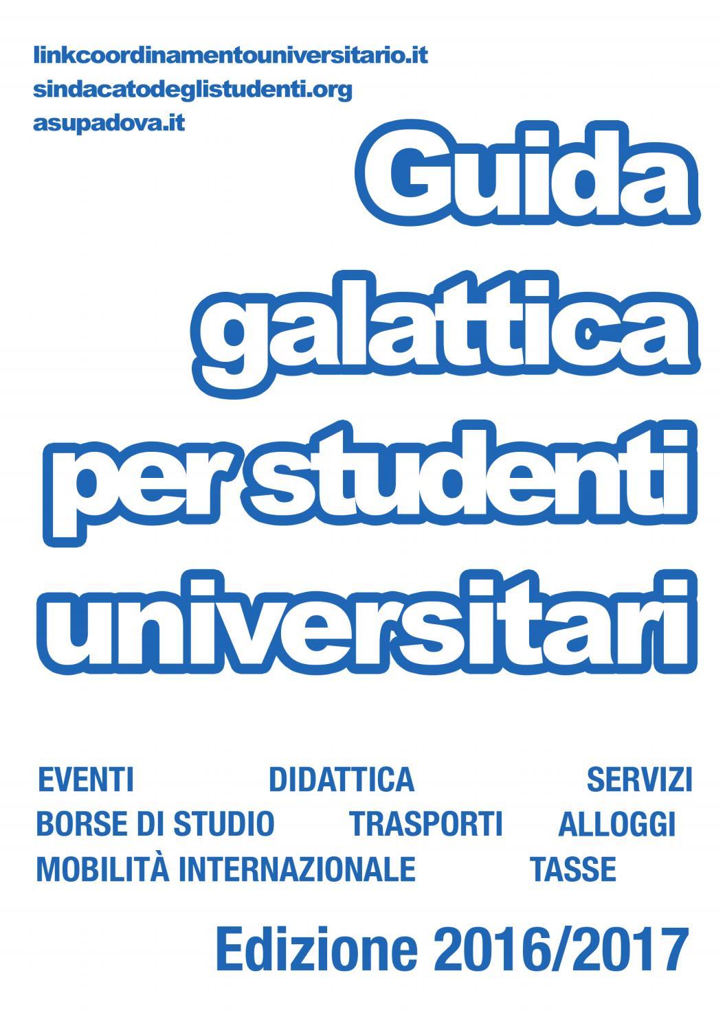 Guida galattica per studenti universitari a.a. 2016-17 by il ...