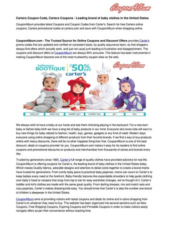 picture regarding Carters Printable Coupons named Carters Coupon Code, Carters Discount codes via CouponAl - issuu