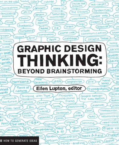 Graphic Design Thinking: Beyond Brainstorming by Princeton